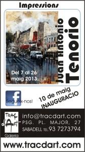 expo Tenorio a traç d'art galeria Sabadell